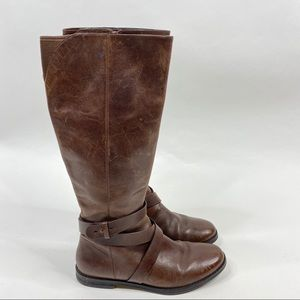 Cole Haan Boots Petra Belt Riding Leather Tall